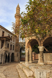 Hippocrates Plane Tree, fountain and mosque, Plateia Platanou, cobblestone square in autumn, Kos To Photographic Print by Eleanor Scriven