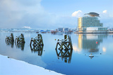 St. David's Hotel and Spa in snow, Cardiff, Bay, Wales, United Kingdom, Europe Photographic Print by Billy Stock
