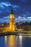Big Ben (the Elizabeth Tower) and Westminster Bridge at dusk, London, England, United Kingdom, Euro Photographic Print by Fraser Hall