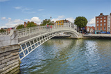 Ha'penny Bridge across the River Liffey, Dublin, Republic of Ireland, Europe Photographic Print by Nigel Hicks
