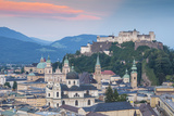 View of Hohensalzburg Castle above The Old City, UNESCO World Heritage Site, Salzburg, Austria, Eur Photographic Print by Jane Sweeney