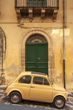 Old Fiat 500 parked in street, Noto, Sicily, Italy, Europe Photographic Print by John Miller