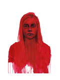 Echo From The Deep Red Within Giclée-Premiumdruck von Agnes Cecile