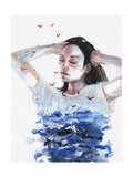 Finally She Lost Everything Giclée-Premiumdruck von Agnes Cecile