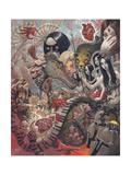 Hearts, Minds and Idle Hands Giclée-Premiumdruck von Aaron Jasinski