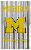 MI University Wolverines Placa de lata