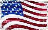 US Flag Plaque en métal