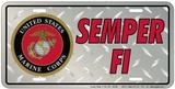 Marines - Diamond Plate Peltikyltti