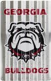 Georgia Bulldogs Targa di latta