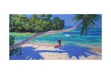 Girl on a Swing, Seychelles, 2015 Giclee Print by Andrew Macara