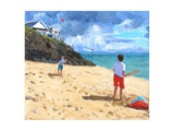 Bowling and Batting, Abersoch, 2015 Giclee Print by Andrew Macara