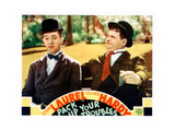 Pack Up Your Troubles, L-R: Stan Laurel, Oliver Hardy on Lobbycard, 1932 高品質プリント