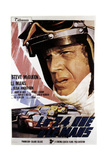 Le Mans (AKA Le 24 Ore Di Le Mans), Steve Mcqueen on Italian Poster Art, 1971 Prints