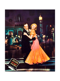 Top Hat, L-R: Fred Astaire, Ginger Rogers on Jumbo Lobbycard, 1935 Posters