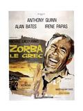 Zorba the Greek, (AKA Zorba Le Grec), Anthony Quinn on French Poster Art, 1964 Arte