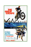 The Great Escape, Steve Mcqueen, Richard Attenborough, James Garner on Poster Art, 1963 Plakat