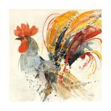 Festive Rooster II Print by Albena Hristova