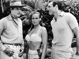 Dr No, L-R: Jack Lord, Ursula Andress, Sean Connery, 1962 Photographie