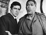 Zorba the Greek, L-R, Alan Bates, Anthony Quinn, 1964 写真