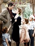 It's a Wonderful Life, Jimmy Hawkins, James Stewart, Donna Reed, CArol Coomes, Larry Simms, 1946 Foto