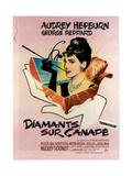 Breakfast at Tiffany's, Audrey Hepburn, 1961 Premium Giclee-trykk