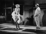 The Seven Year Itch, Marilyn Monroe, Tom Ewell, 1955 Photo
