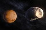 Phobos and Mars, Artwork Fotografie-Druck