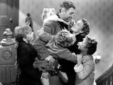 It's a Wonderful Life, Larry Simms, Jimmy Hawkins, James Stewart, Donna Reed, Karolyn Grimes, 1946 写真