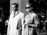 Breakfast at Tiffany's, L-R, George Peppard, Audrey Hepburn, 1961 Fotografia