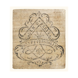 Vintage Letter Crest I Antique Border V2 Affiches par  Wild Apple Portfolio
