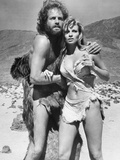 One Million Years BC, L-R, John Richardson, Raquel Welch, 1966 Fotografia