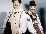 Swiss Miss, L-R: Oliver Hardy, Stan Laurel (AKA Laurel and Hardy), 1938 写真