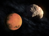 Mars and Deimos, Artwork Fotografie-Druck