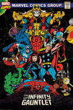 Marvel Retro Comic - The Infinity Gauntlet Poster