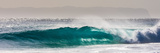Panorama of a beautiful backlit wave breaking off a beach, Hawaii Fotografisk trykk av Mark A Johnson