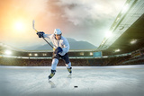 Ice Hockey Player on the Ice. Open Stadium - Winter Classic Game. Fotografie-Druck von Andrey Yurlov