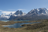 A Mountainous and Snow Capped View of Torres Del Paine National Park Photographic Print by Jeff Mauritzen