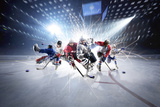 Collage from Hockey Players in Action Photographic Print by Eugene Onischenko