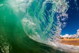 Shorebreak wave, Baja California Sur, Mexico Fotografisk trykk av Mark A Johnson