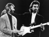 Ringo Starr and George Harrison In, 1988 Photo by  Associated Newspapers