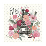 Paris is Blooming II Poster por Laura Marshall