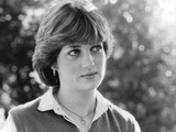 Princess Diana Meeting the Press for the First Time Foto von  Associated Newspapers