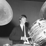 Ringo Starr Playing the Drums Photo by  Associated Newspapers