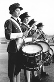 Drummers in a Waaf Band Foto von  Associated Newspapers