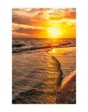 Wave to Sunset Poster por Mary Lou Johnson