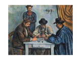 The Card Players Premium Giclee Print by Paul Cézanne