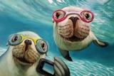 Underwater Selfie Poster by Lucia Heffernan