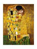 De kus Premium gicléedruk van Gustav Klimt