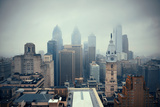 Philadelphia City Rooftop View with Urban Skyscrapers. Reproduction photographique par Songquan Deng