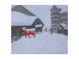 Red Cow, Les Arcs, 2018 Giclee Print by Andrew Macara